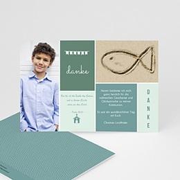 Dankeskarten Kommunion Jungen - Box Blau - 0