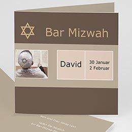 Bar Mitzwah Einladung - Karte Sarah - 1