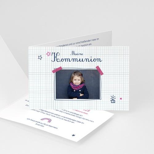 Einladungskarten Kommunion Mädchen - Eucharistie 45957