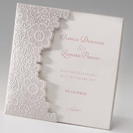 Hochzeitseinladungen traditionell - Ornamente Perlmutt - 1