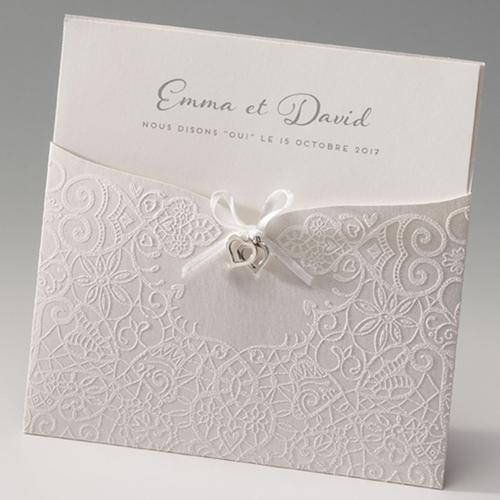 Hochzeitseinladungen traditionell - Verziert und Edel 45988