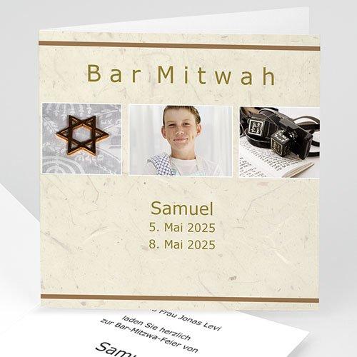 Bar Mitzwah Einladung - Bar Mitzwah 8 4610