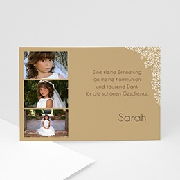 Dankeskarten Kommunion Mädchen - Einladungskarte Kommunion - 1