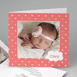 Geburtskarten für Mädchen - Dans les étoiles - 0