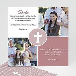 Danksagungskarten konfirmation - Engagement, merci - 0