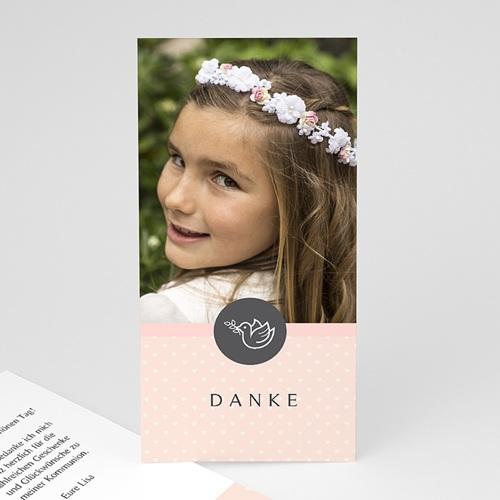 Dankeskarten Kommunion Mädchen - Kleine Taube 46596