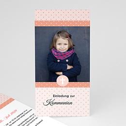 Einladungskarten Kommunion Mädchen - Sternchenmotiv - 0