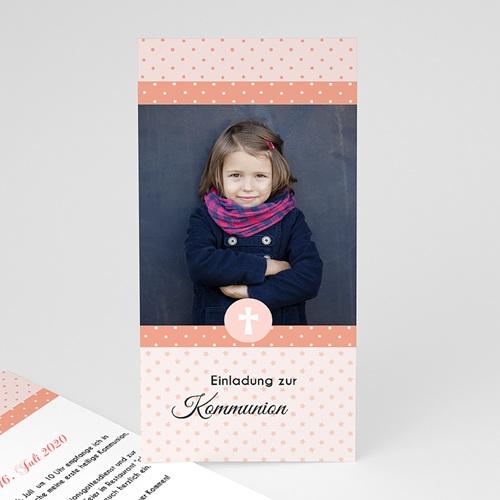 Einladungskarten Kommunion Mädchen - Sternchenmotiv 46635
