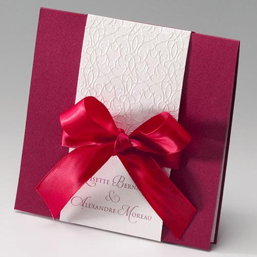 Hochzeitseinladungen traditionell - Feurig 46854