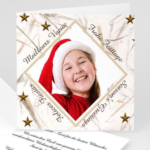 Weihnachtskarten - Goldener Sternenregen 4686