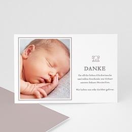 Dankeskarten Geburt Jungen - Babykarte Elias - 0