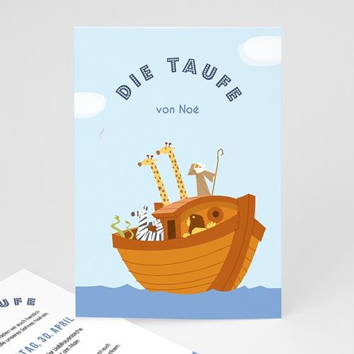 Einladungskarten Taufe Jungen  - Noe 46921