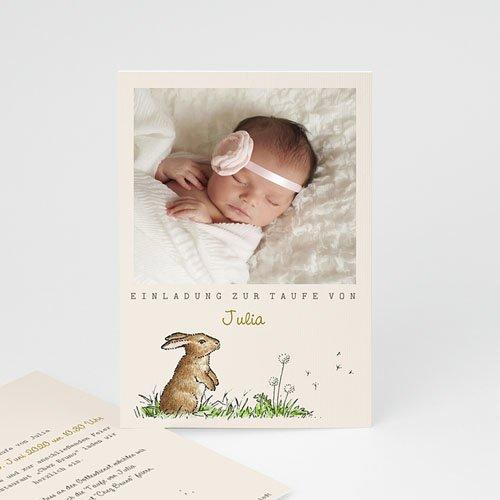 Einladungskarten Taufe Mädchen - Häschen 46930