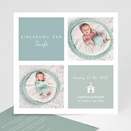 Einladungskarten Taufe Jungen  - Pastellblau - 0