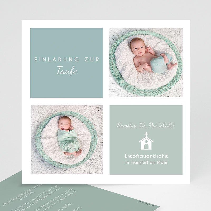 Einladungskarten Taufe Jungen - Pastellblau  Carteland.de