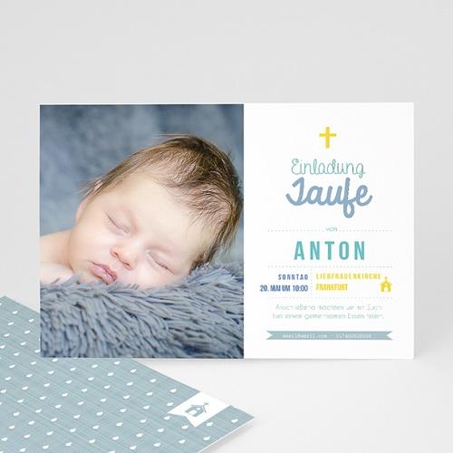 Einladungskarten Taufe Jungen  - Täufling 47015