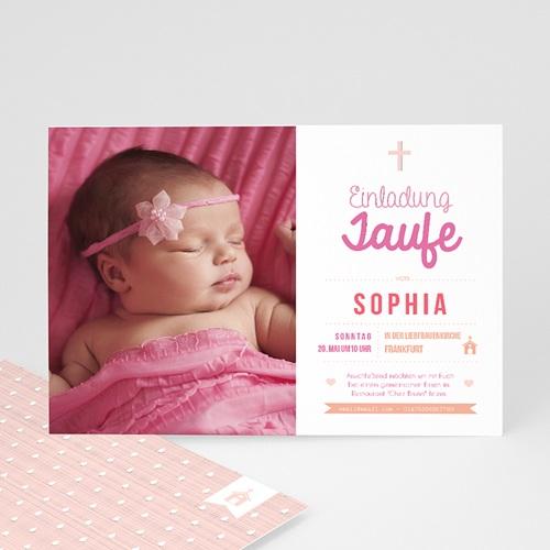Einladungskarten Taufe Mädchen - Meine Taufzeremonie 47024