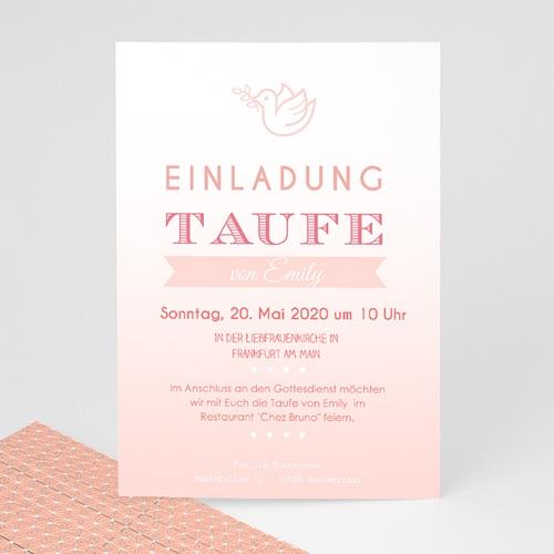 Einladungskarten Taufe Mädchen - Rosatöne Taufe 47033
