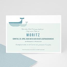 Einladungskarten Taufe Jungen  - Ozean - 0