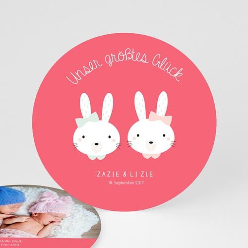 Babykarten für Zwillinge gestalten - Hasenmädchen 47184
