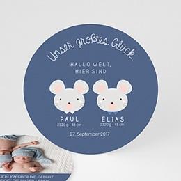 Babykarten für Zwillinge gestalten - Zwillingsmäuse - 0
