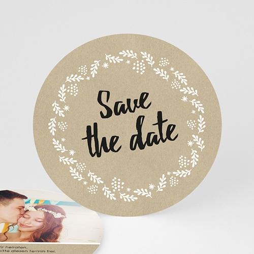 Save The Date  - Schlichte Blumenkrone 47301