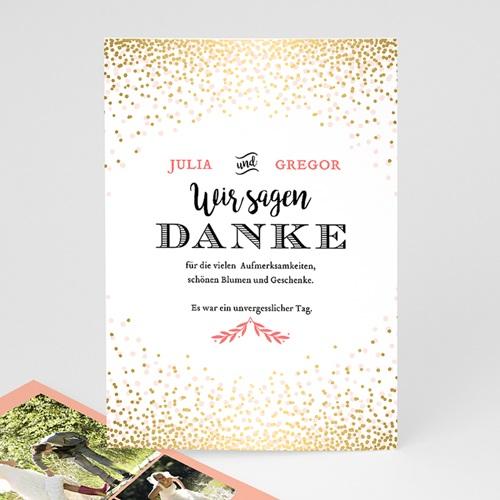Alle Dankeskarten Hochzeit - Paillettengold  47344