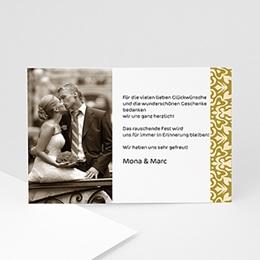 Danksagungskarten Hochzeit  - Goldene Eleganz - 1
