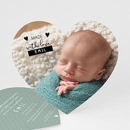 Babykarten für Jungen - Made with love - 0