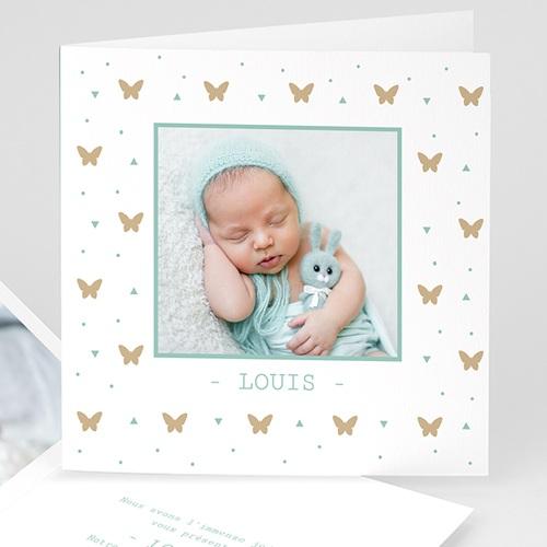 Geburtskarten für Mädchen - Geburtskarte Unser Schmetterling 4780