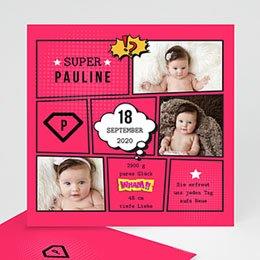 Geburtskarten für Mädchen - Super Girl - 0