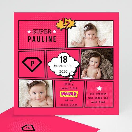 Geburtskarten für Mädchen - Super Girl 47851