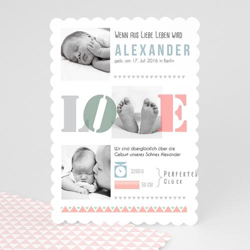 Geburtskarten für Mädchen - Loved & Colored 47964