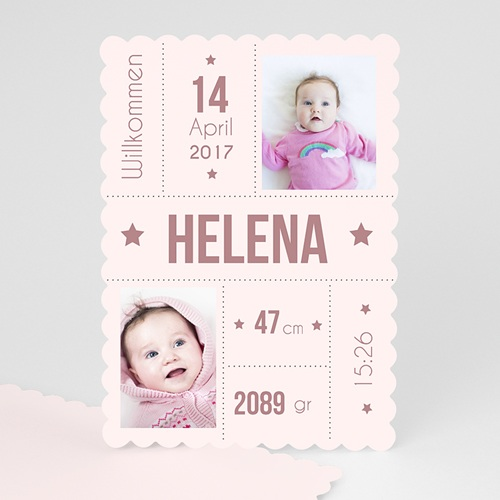 Geburtskarten für Mädchen - Sternenschnuppe 47970