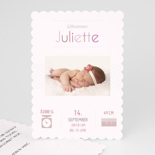 Geburtskarten für Mädchen - Rose chic 47985