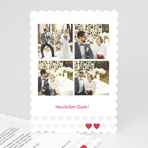 Alle Dankeskarten Hochzeit - Zwei Herzen 48051