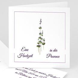 Hochzeitseinladungen modern - Lavendel - 1