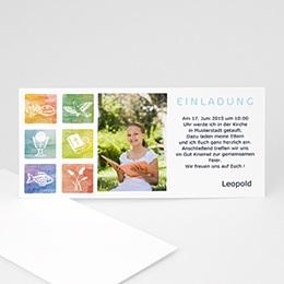 Einladungskarten Kommunion Mädchen - Taufsymbole - 1