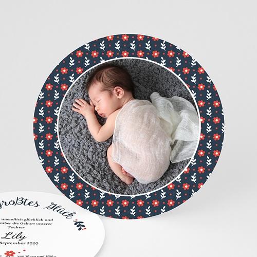 Geburtskarten für Mädchen - Blue Flower 48187