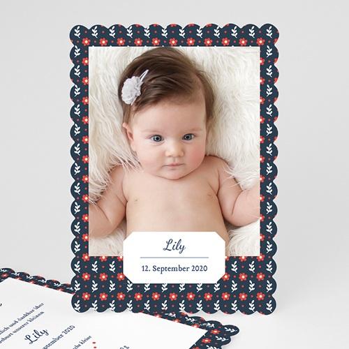 Geburtskarten für Mädchen - Red Flowers 48217