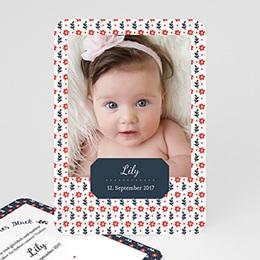 Geburtskarten für Mädchen - Red Flowers - 0