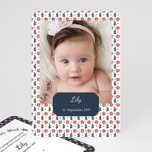 Geburtskarten für Mädchen - Flowers 48226