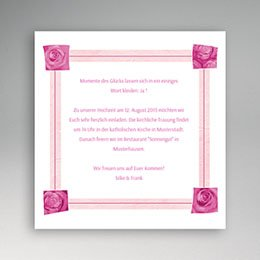 Einlegekarte individuell - Romantik - 1