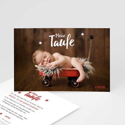 Einladungskarten Taufe Jungen  - Blickfang 48278