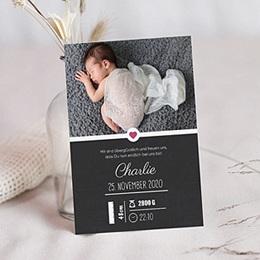 Geburtskarten für Mädchen - Tafel mit Details - 0