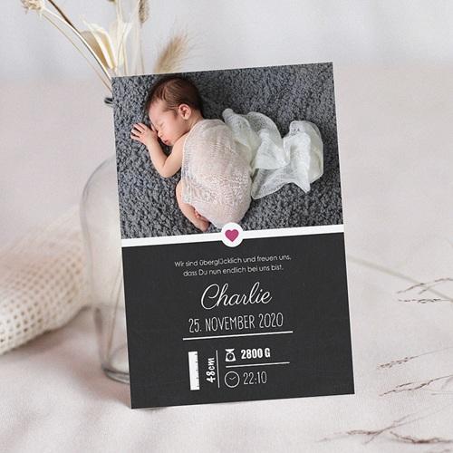 Geburtskarten für Mädchen - Tafel mit Details 48344