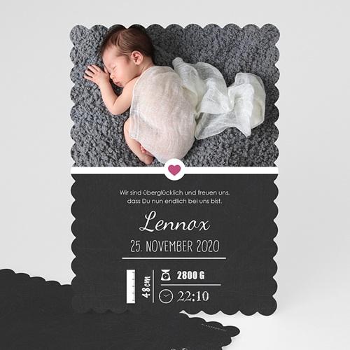 Geburtskarten für Mädchen - Tafel mit Details 48353
