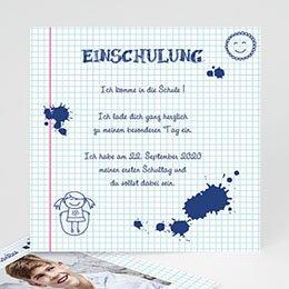 Einladungskarten Einschulung - Tintenklecks - 0