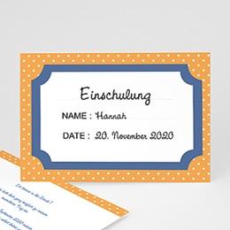 Einladungskarten Einschulung - Bunte Punkte - 0