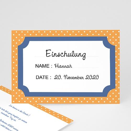 Einladungskarten Einschulung - Bunte Punkte 48595
